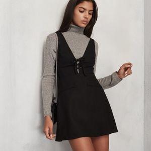 Reformation RIgley Wool Blend Jumper Black Dress